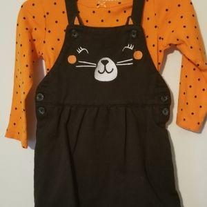 Carter's Halloween jumper with onsie